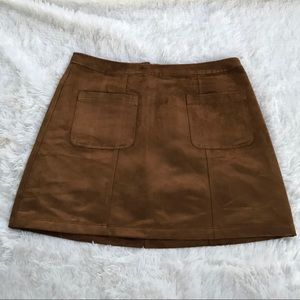 OLD NAVY CAMEL SUEDE SKIRT